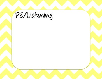 Yellow Chevron Strips Daily Learning Agenda