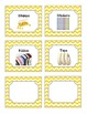 52 Yellow Chevron Supplies Labels