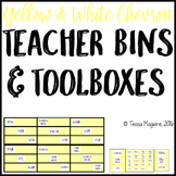 Yellow Chevron Teacher Drawers & Toolbox Labels {Editable}