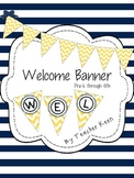 Yellow Chevron Welcome Banner