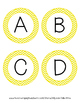 Word Wall Letters - Yellow Chevron
