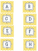 Yellow Chevron Word Wall Package {Chevron Alphabet; including 220 sight words!}