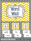 Yellow Chevron Word Wall Package {Chevron Alphabet; includ