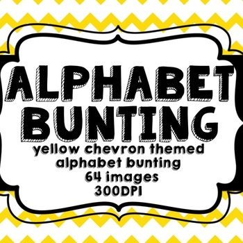 Yellow Chevron Alphabet Bunting