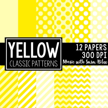 Yellow Classic Designs- 12 Digital Papers
