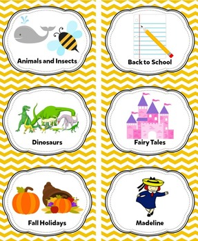 Yellow Classroom Library Labels & Individual Book Labels {