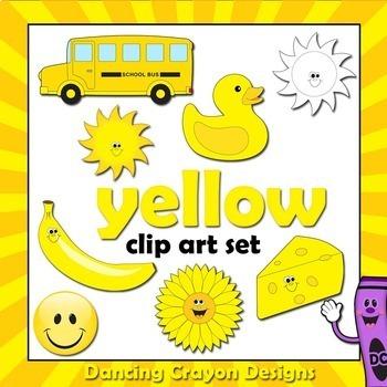 Yellow Clip Art - Color Clipart Series Set 3