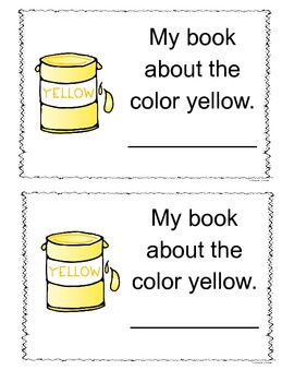Yellow Color Book