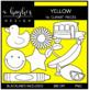 Yellow Color Clipart {A Hughes Design}