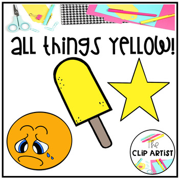 Yellow Color Objects Clip Art