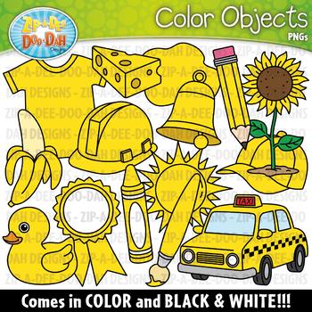 Yellow Color Objects Clipart {Zip-A-Dee-Doo-Dah Designs}