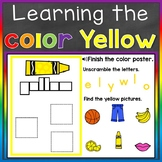 Yellow Color Recognition Color Word Boom Cards Learning Co