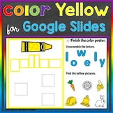 Yellow Color Recognition Color Word Google Slides for Dist