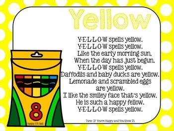 Yellow Color Song Crayon Book