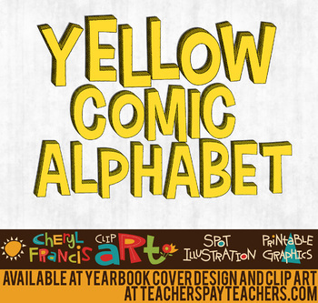 Yellow Comic Alphabet Art