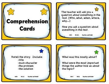 Kindergarten Comprehension Task Cards Aligned to American Reading Company