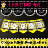 Yellow Crayon Bulletin Board Letters