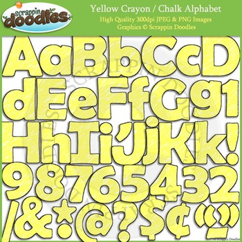 Yellow Crayon / Chalk Alphabet