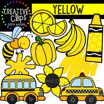 Yellow Objects Clipart {Creative Clips Clipart}