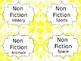 Yellow Damask Editable Library Book Bin Labels