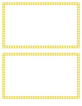 Yellow Diamond Border Set