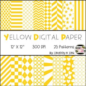 Yellow Digital Paper By The Bubblegum Teacher Teachers Pay Teachers