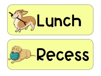 Yellow Dog Schedule Cards