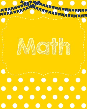 Yellow Dots Binder Covers