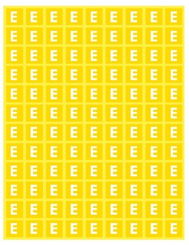 Yellow E Note Tiles / MrMikesMusicMats