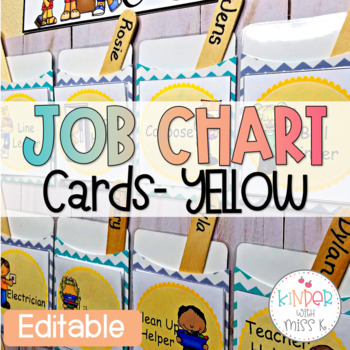 Yellow Editable Job Chart Cards