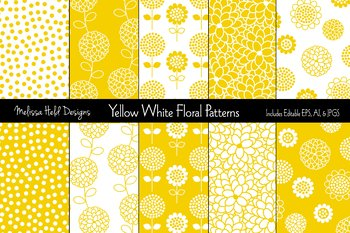 Polka Dot and Floral Patterns: Yellow