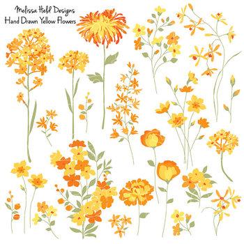 Clipart: Yellow Flowers Clip Art