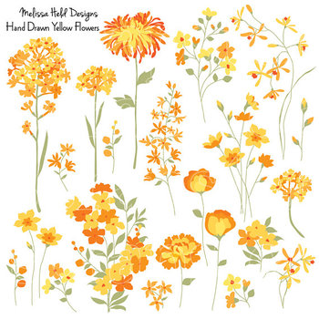 Clipart: Yellow Flowers Clip Art