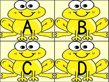 Yellow Frog Alphabet Letter Flashcards