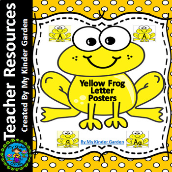 Yellow Frog Alphabet Letter Posters / Word Wall Headers