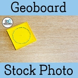 Yellow Geoboard Stock Photo