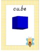 Yellow Gingham and Bumblebees 2D and 3D Shape Posters