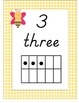 Yellow Gingham and Bumblebees Number Posters 0-20