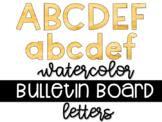 Yellow Gold Watercolor Bulletin Board Letters