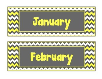 Yellow & Gray: Calendar Set