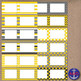 Yellow & Gray Clip Art Chevron Polka Dot & Striped Post-its, Labels & Notecards