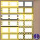 Yellow & Gray Clip Art Chevron Polka Dot & Striped Post-it