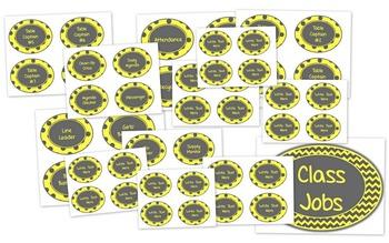 Yellow & Gray: Classroom Decor Bundle
