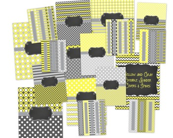 Yellow & Gray: Classroom Decor Mega Bundle