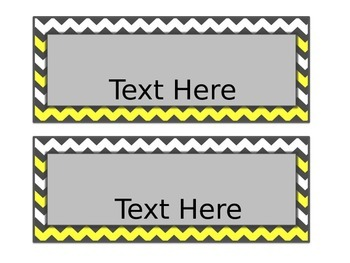 Yellow & Gray: Editable Large Labels