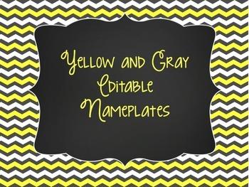 Yellow & Gray: Editable Nameplates