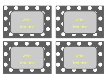Yellow & Gray: Editable Small Labels