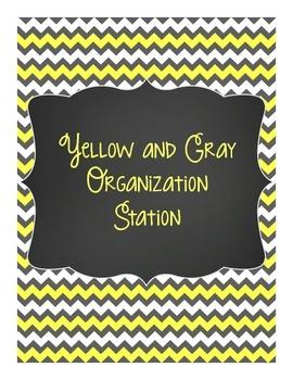 Yellow & Gray: Organization Station