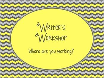 Yellow & Gray: Writing Clip Chart