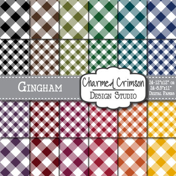 Bold Gingham Digital Paper 1275